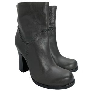 Kork-Ease Vallery Leather Ankle Boots in Dark Grey